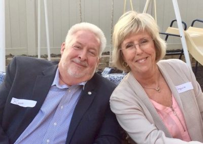 My wife Virginia and I at the Santee Lakeside Rotary Fireside.